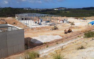 Construção de escritórios e armazém em Palhagueiras